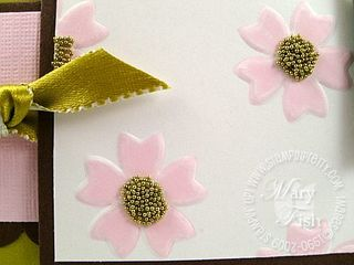 Stampin up pink pirouette eastern blooms close up