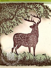 Stampin up nature silhouettes close up