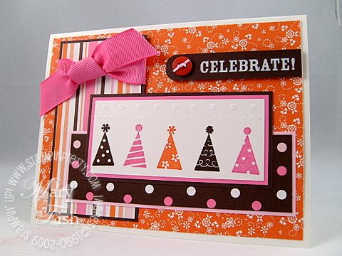 Stampin up sweet always party hearty