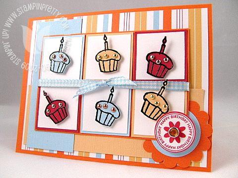 Stampin up taylor cupcake challenge 1