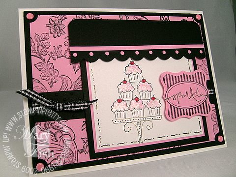 Stampin up crazy cupcake sparkle