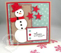 Stampin up best wishes snowman