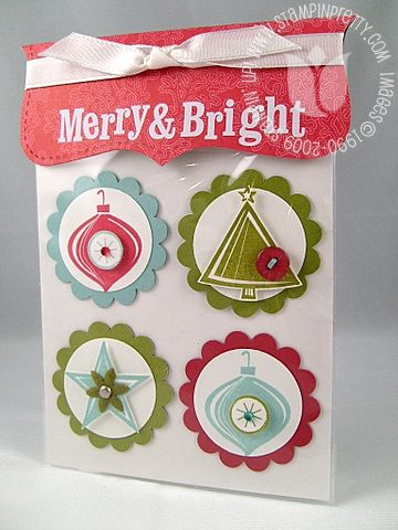Stampin up holiday trinkets magnets