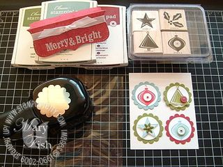 Stampin up holiday trinkets supplies