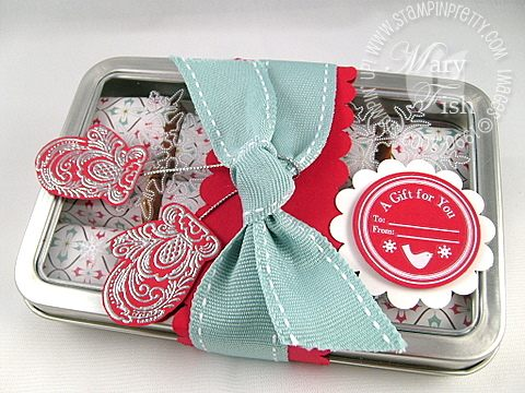 Stampin up scandinavian season nugget box complete