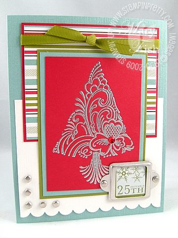 Stampin up scandinavian season nugget card