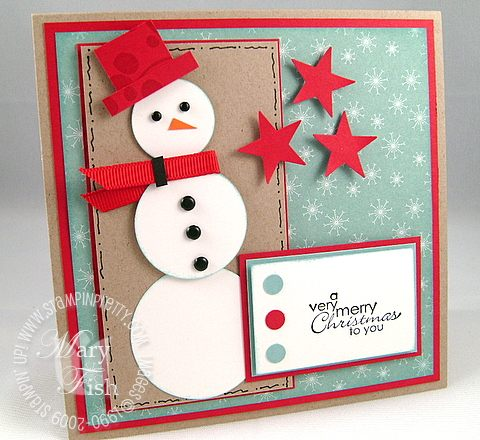 Stampin up best wishes snowman mojo monday