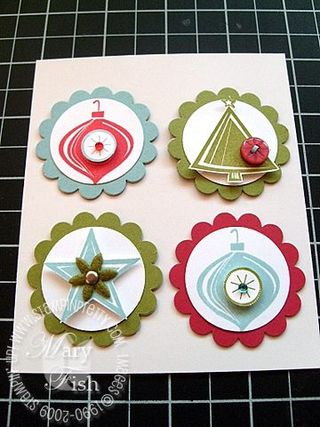 Stampin up holiday trinkets magnets 1