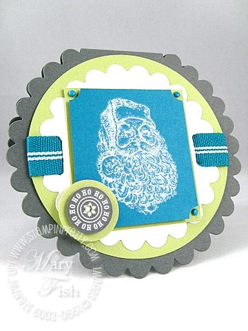 Stampin up baskets and blooms scallop card