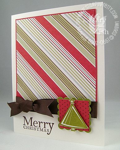 Stampin up holiday trinkets merry christmas card