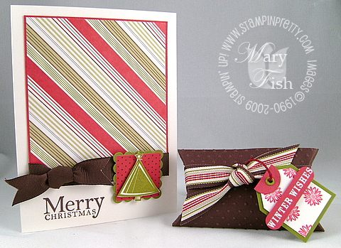 Stampin up holiday trinkets merry christmas
