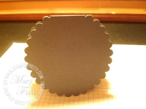 Stampin up baskets and blooms die cut card