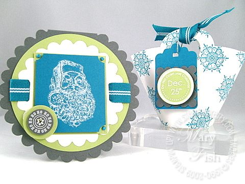 Stampin up baskets and blooms basket and card