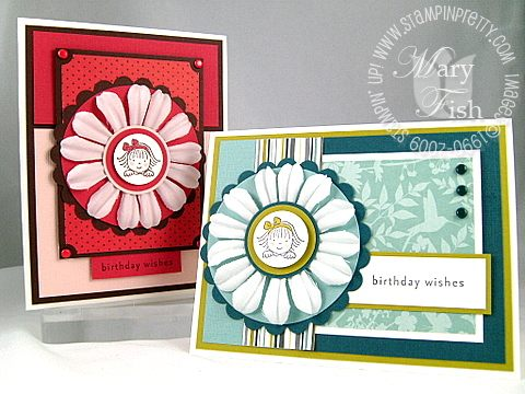 Stampin up window dressing twins