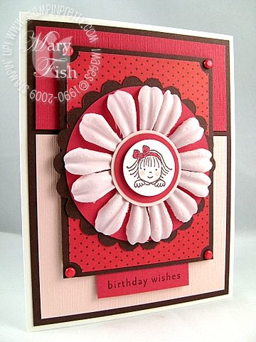 Stampin up window dressing twins red