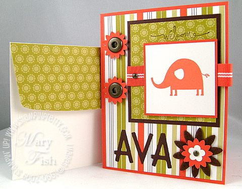 Stampin up nursery necessities for ava