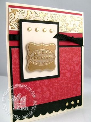 Stampin up cute and curly faux metal