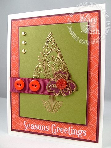 Stampin up scandinavian season gold