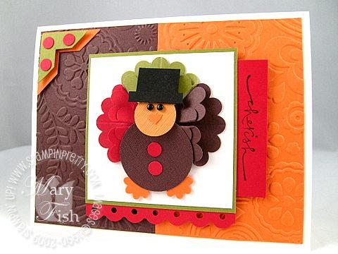 Stampin up thanksgiving turkey cuttlebug