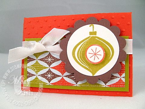 Stampin up holiday trinkets ornament
