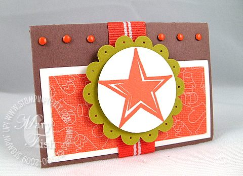 Stampin up holiday trinkets star