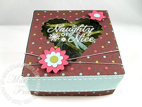 Stampin up holiday extravaganza square box