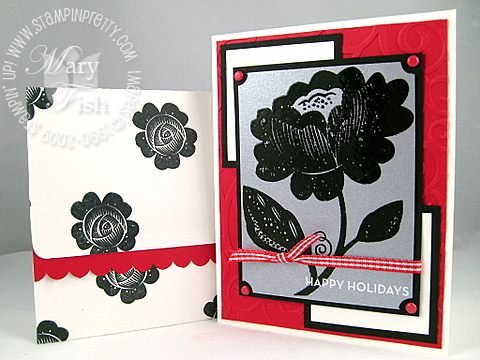 Stampin up holiday extravaganza bella blossoms combo