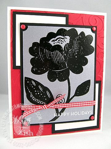 Stampin up holiday extravaganza bella blossoms silver