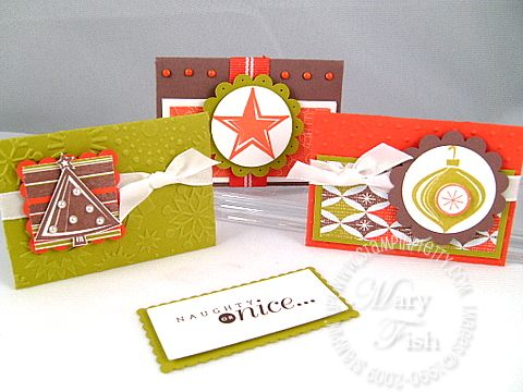 Stampin up holiday trinkets trio