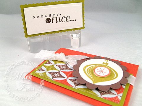 Stampin up holiday trinkets trio card