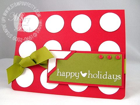 Stampin up holiday extravaganza polka dot