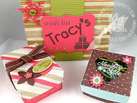 Stampin up holiday treasures box brigade