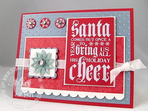 Stampin up jolly old st nick rub-ons