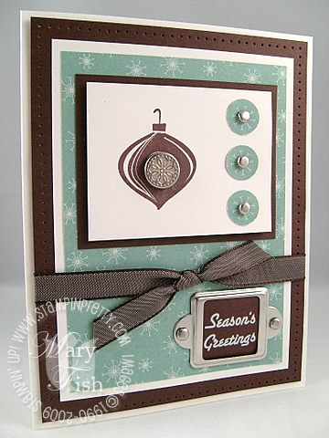 Stampin up baja breeze holiday trinkets