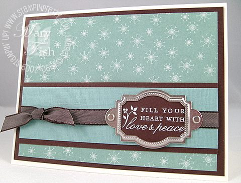Stampin up baja breeze love and peace