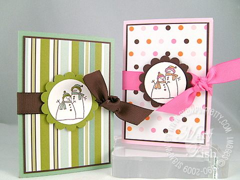 Stampin up window dressing gift card holders