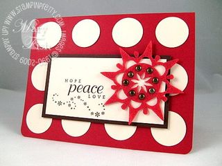 Stampin up little flurries hope peace love