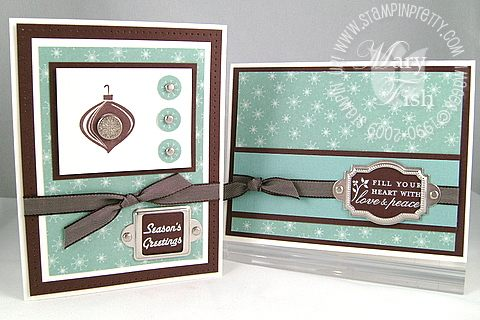 Stampin up baja breeze christmas duo