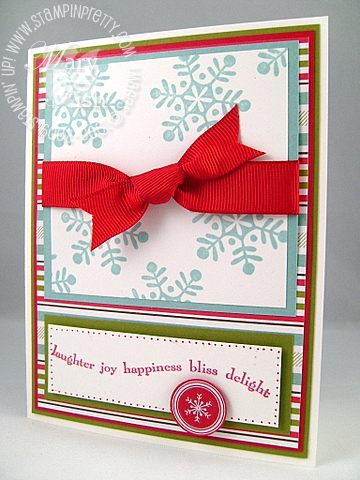 Stampin up best wishes ski slope