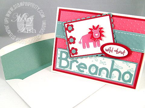 Stampin up wild about you card envelope combo
