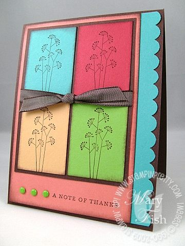 Stampin up pocket silhouettes note of thanks