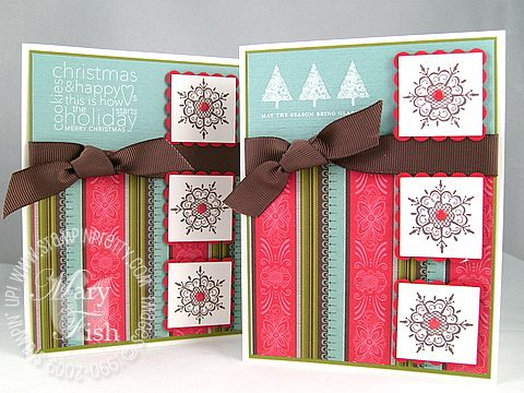Stampin up scandinavian snowflakes