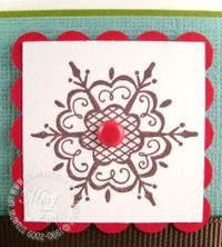 Stampinup scandinavian snowflakes close up