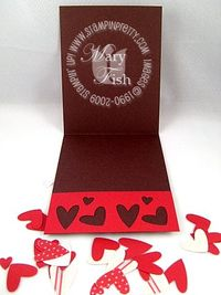 Stampin up heart to heart punch relief