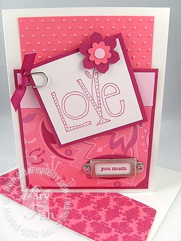 Stampin up love you much bundle raspberry tart