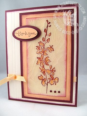 Stampin up cracked glass card