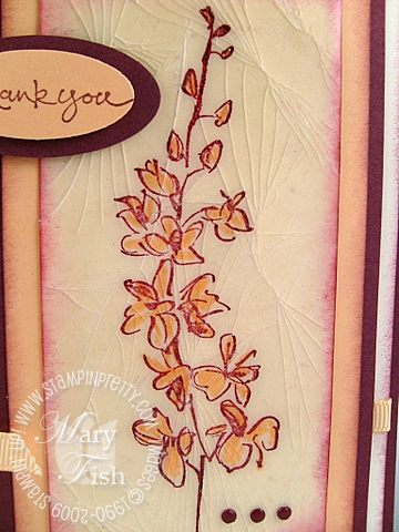 Stampin up cracked glass close up