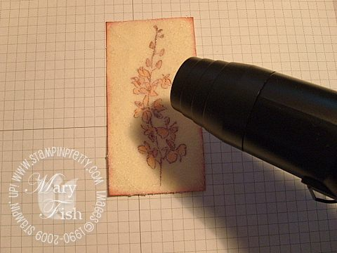 Stampin up cracked glass heat tool