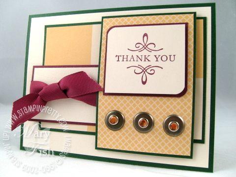 Stampin up elegant thank you jackpot