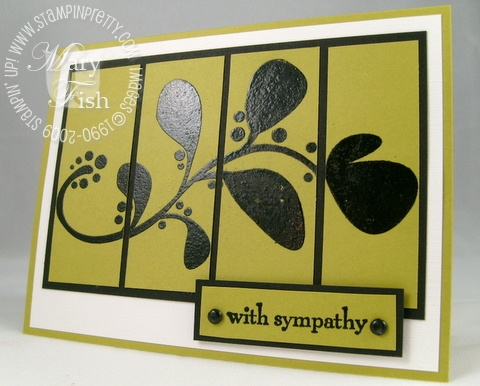Stampin up organic outlines with sympathy